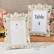 20 Baroque Antique Ivory Table Number Frames with Gold Leaf