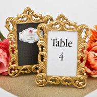 20 Baroque Gold Metallic Wedding Table Number Frames