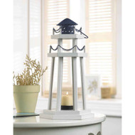 12 Nautical Lighthouse Wooden Lanterns Beach Wedding Centerpieces