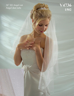 Angel Dust Tulle Fingertip Length Wedding Veil