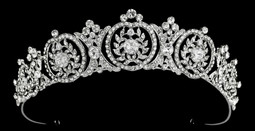 Silver Plated Rhinestone Wedding Tiara T22682