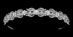 Dainty Silver Plated Rhinestone Wedding Headband