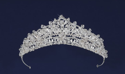 Regal Crystal and Marquise Rhinestone Wedding Tiara