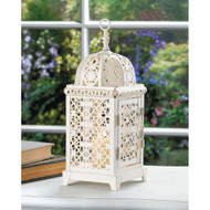 24 White Moroccan Aura Candle Lanterns for Wedding Decorations