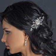 Petite Vintage Inspired Pearl and Rhinestone Wedding Hair Comb