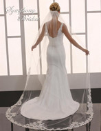 Lace Cathedral Length Wedding Veil Symphony Bridal 6751VL