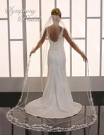 Lace Cathedral Length Wedding Veil Symphony Bridal 6754VL