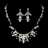 Regal Crystal and Pearl Wedding Jewelry Set