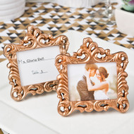 100 Rose Gold Vintage Look Baroque Style Place Card Holder Favors