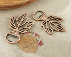 96 Copper Leaf Fall Wedding Bottle Opener Favors