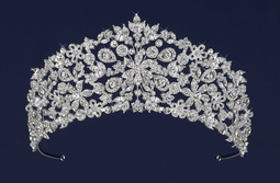 """Intricate 2 1/2"""" Tall Silver or Gold Wedding and Quinceanera Tiara"""