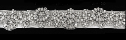 Lavish Wedding Dress Sash Belt with Rhinestones and Pearls