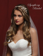 Gold Side Accent Headband Symphony Bridal 7845cr