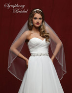 Graduated Beaded Edge Wedding Veil Symphony Bridal 6834VL
