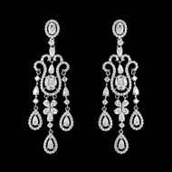 Exquisite CZ Chandelier Earrings in Silver, Gold or Rose Gold