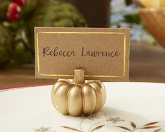 144 Gold Pumpkin Fall Wedding Place Card Holders