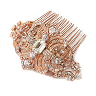 Rose Gold Vintage Inspired Bridal Wedding Hair Comb