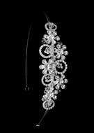 Floral Rhinestone and Crystal Wedding Headband