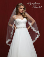 Lace Edge Fingertip Length Wedding Veil Symphony Bridal 6805VL