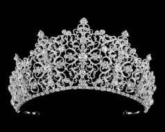 Regal Scroll Rhinestone Wedding and Quinceanera Tiara - sale!
