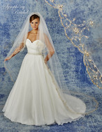 Two Layer Beaded Embroidery Cathedral Wedding Veil 6938VL