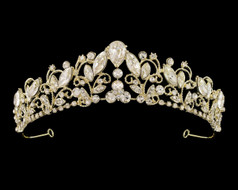 Enchanting Silver or Gold Plated Rhinestone Bridal Tiara
