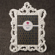 18 Baroque White 5 x 7  Frame Table Number Holders for Weddings