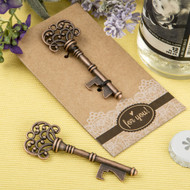 100 Copper Vintage Skeleton Key Bottle Openers on Kraft Board