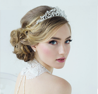 Silver Plated Crystal Rochelle Enchantment Wedding Tiara - sale!