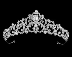 Teardrop Rhinestone Wedding and Quince Tiara T56296