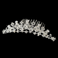 Petite Rhinestone Bridal Tiara Hair Comb - Silver or Gold - Sale!