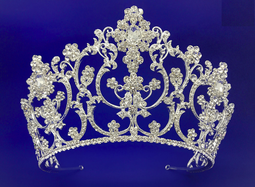 "3 3/4"" Tall Silver or Gold  Wedding and Quinceanera Tiara"