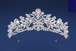 "1 3/4"" High Scroll Wedding and Quinceanera Tiara in Silver or Gold"