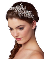 Rose Gold Wedding Hair Vine with Lavish Crystal Sprays - sale!