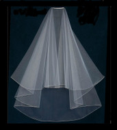 Custom Made Two Layer Knee Length Encasement Drop Wedding Veil