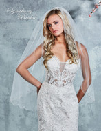 Scallop Rhinestone Edge Fingertip Wedding Veil 7010VL