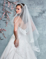 Two Layer Lace Knee Length Wedding Veil 7067VL