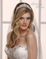 Pearl and Crystal Wedding Tiara 7828CR by Symphony Bridal