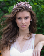 Hand Wired Silver, Gold or Rose Gold Botanical Wedding Tiara