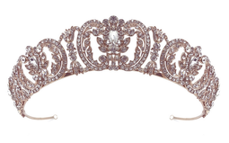 Rose Gold or  Silver Royal Rhinestone Wedding and Quinceanera Tiara