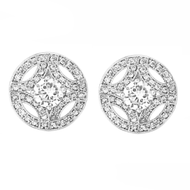 Meghan Markle CZ Stud Wedding Earrings Replica