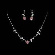 4 Sets Floral Bridesmaid Jewelry in  Light Amethyst