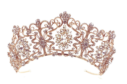 """Rose Gold, Gold or Silver 2 1/2"""" Tall  Wedding and Quinceanera Tiara"""