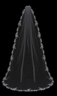 Beaded Floral Lace Cathedral Wedding Veil Envogue V1995C