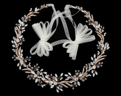 Rose Gold Crystal and Rhinestone  Hair Vine Wedding Headband