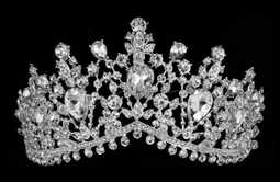 "2 1/2"" Silver Plated Crystal Wedding and Quinceanera Tiara"