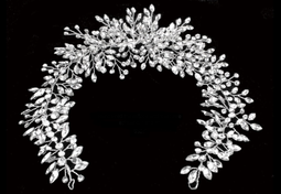 Marquise Rhinestone  Silver Hair Vine Wedding Headband