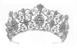"""Silver, Gold or Rose Gold 2 1/2"""" Tall  Wedding and Quinceanera Tiara"""