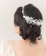 Floral Pearl and Rhinestone Halo Wedding Headband