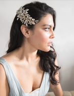 Dazzling Gold or Silver Plated Wedding Hair Comb